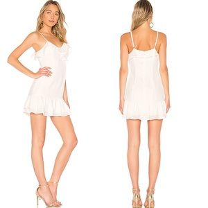 New Parker Zenna Combo Dress In Pearl Size 2